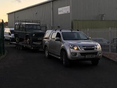 ENDE has just transported a car by trailer from Camberley, Surrey to Ayr, Scotland.
