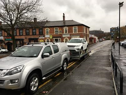 ENDE has just transported a car by trailer from Stoke on Trent, Staffordshire to Stockton on Tees, County Durham.