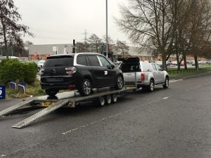 ENDE has just transported a car by trailer from Newport, South Wales to Banbury, Oxfordshire.
