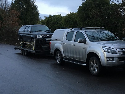 ENDE has just transported a car by trailer from Salisbury, Wiltshire to Hereford, Herefordshire.