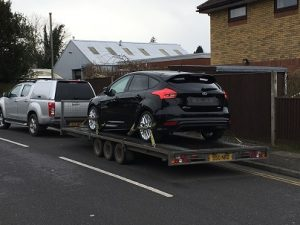 ENDE has just transported a car by trailer from Banstead, Surrey to Gillingham, Kent.