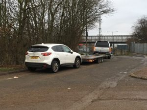 ENDE has just transported a car by trailer from Westbury, Wiltshire to Birmingham