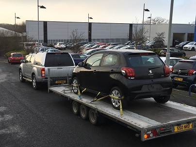 ENDE has just transported a car by trailer from Bristol, Avon to Strourbridge, West Midlands.
