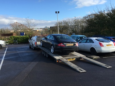 Ende Ltd has just transported a brand new Mercedes Benz CLS by trailer from Hartlepool, County Durham and safely delivered it to Bristol, Avon.