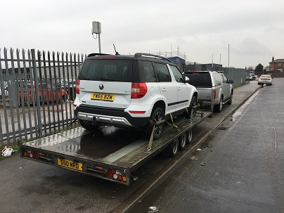 ENDE has just transported a car by trailer from Leeds, Yorkshire to Peterborough, Cambridgeshire.