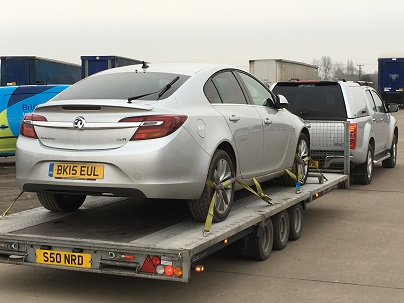 ENDE has just transported a car by trailer from Pershore, Gloucestershire to Maidstone, Kent.