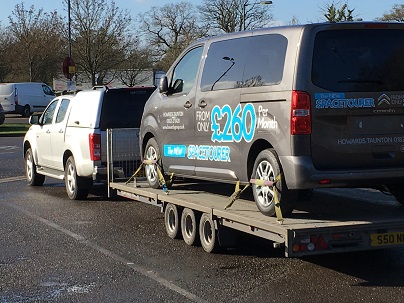ENDE has just transported a van by trailer from Taunton, Somerset to Stockport, Manchester.