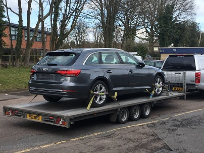 ENDE has just transported a car by trailer from Amersham, Bucks to Neyland, Pembroke.