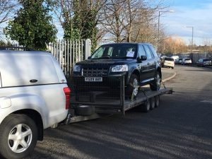 ENDE has just transported a car by trailer from Birmingham to Verwood, Dorset.