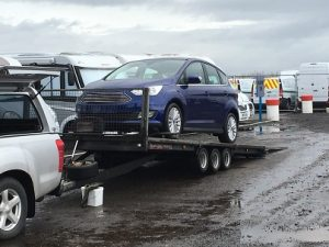 ENDE has just transported a car by trailer from Cardiff to a car dealer in Walsall.