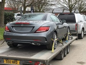 ENDE has just transported a car by trailer from Loughborough., Leicestershire  to Stratford on Avon, Warwickshire.