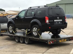 ENDE has just transported a car by trailer from Newbury Auctions, Wiltshire to Brixham, Devon.