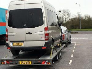 ENDE has just transported a van by trailer from Bude, Cornwall to Stone, Staffordshire.