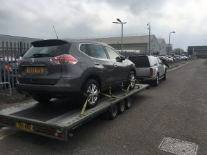 ENDE- the transport by trailer experts, has just transported a car by trailer from Cardiff, South Wales to Bristol, Avon.