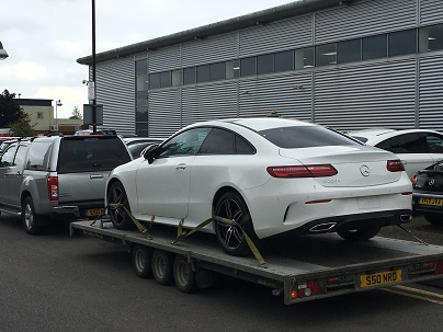ENDE- the transport by trailer experts, has just transported a car by trailer from Cheltenham, Gloucestershire to Sunderland, Tyne and Wear.