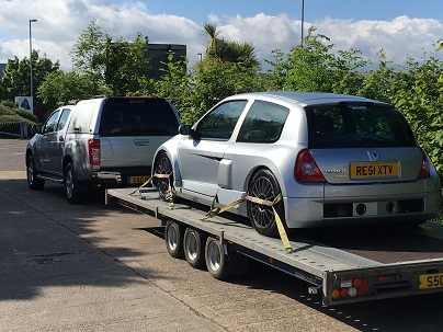 ENDE- the transport by trailer experts, has just transported a car by trailer from Christchurch, Dorset to Birmingham, West Midlands.