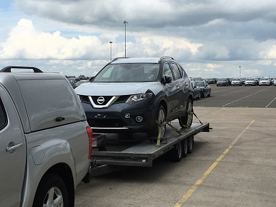 ENDE- the transport by trailer experts, has just transported a car by trailer from Corby, Northamptonshire, to Gloucester, Gloucestershire.