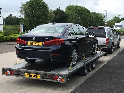 ENDE- the transport by trailer experts, has just transported a car by trailer from Swindon, Wiltshire to Pershore, Worcestershire.