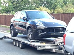 ENDE- the transport by trailer experts, has just transported a car by trailer from Swindon, Wiltshire to Tewkesbury, Gloucestershire .
