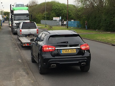 ENDE- the transport by trailer experts, has just transported a car by trailer from Woodford Green, North London to Birmingham.
