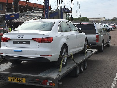 ENDE- the tranport by trailer experts, has just transported a car by trailer from Newport, South Wales to Poole, Dorset.