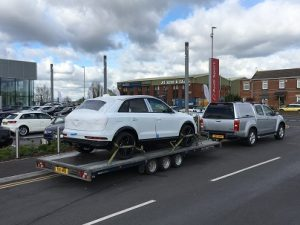 ENDE has just transported a car by trailer from Poole, Dorset to Newports, South Wales.