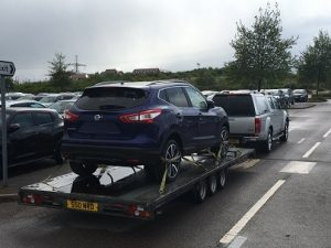 ENDE- the transport by trailer experts, has just transported a car by trailer from Gloucester, Gloucestershire to Bristol, Avon.