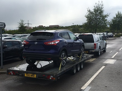 ENDE has just transported a car by trailer from Swanscombe, Kent  to Gloucester, Gloucestershire.