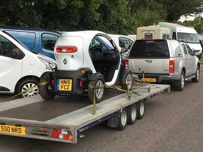 ENDE- the transport by trailer experts, has just transported a car by trailer from Bristol, Avon to Bedford .