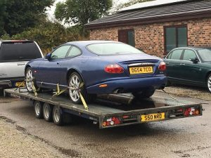ENDE- the transport by trailer experts, has just transported a car by trailer from Camberley, Surrey to Leicester.