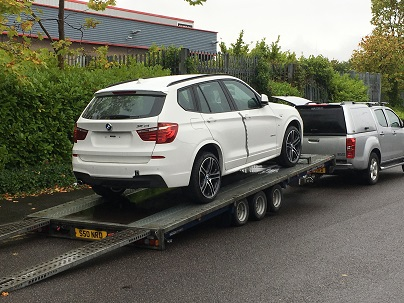 ENDE- the transport by trailer experts, has just transported a car by trailer from Hereford to Tamworth, Staffs.