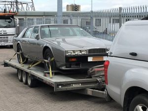 ENDE- the transport by trailer experts, has just transported a car by trailer from Southampton Docks to Newport Pagnell, Buckinghamshire .