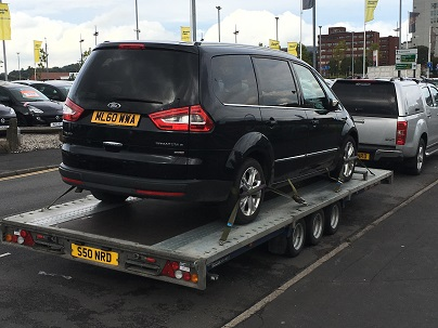ENDE- the transport by trailer experts, has just transported a car by trailer from Stoke on Trent, Staffs to Fareham, Hampshire.