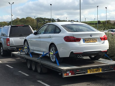 ENDE- the transport by trailer experts, has just transported a car by trailer from Bristol, Avon to Mansfield, Nottinghamshire.