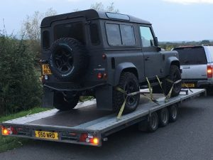 ENDE- the transport by trailer experts, has just transported a car by trailer from Gloucester, Glos to Central London .