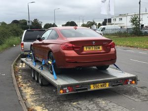 Car Transported by Trailer from Chelmsford to Warminster