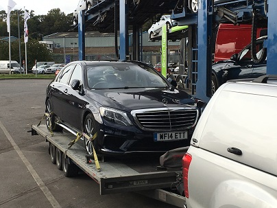 ENDE- the transport by trailer experts, has just transported a car by trailer from Bristol, Avon to Hull, Yorkshire .