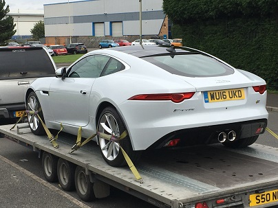 ENDE- the transport by trailer experts, has just transported a car by trailer from Castle Donington, Leicestershire to Bristol, Avon .