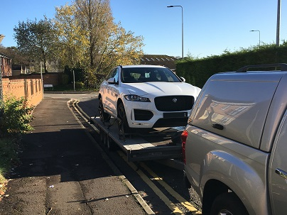 ENDE- the transport by trailer experts, has just transported a car by trailer from Cardiff, Wales to Ipswich, Suffolk.