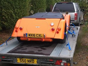 ENDE- the transport by trailer experts, has just transported a car by trailer from Hereford to Billingshurst, Sussex.
