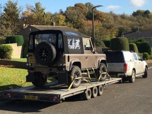ENDE- the transport by trailer experts, has just transported a car by trailer from Radley, Somerset to Henley on Thames, Surrey .