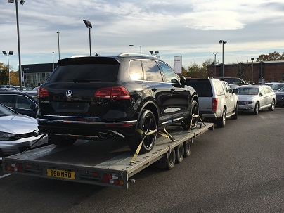 ENDE- the transport by trailer experts, has just transported a car by trailer from Newbury, Wiltshire to Swansea,South Wales.
