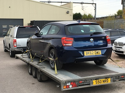 ENDE- the transport by trailer experts, has just transported a car by trailer from Tamworth, Staffordshire to Coleford, Gloucestershire .