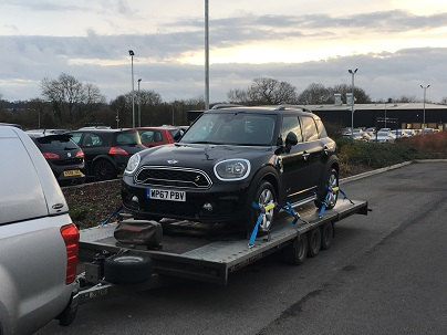 ENDE- the transport by trailer experts, has just transported a car by trailer from Bristol, Avon to Hale, Cheshire.