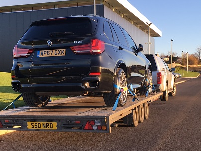ENDE- the transport by trailer experts, has just transported a car by trailer from Bristol, Avon to High Wycombe, Bucks.