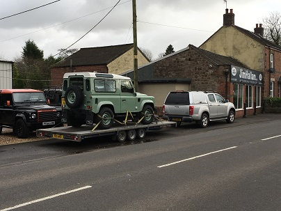 ENDE- the transport by trailer experts, has just transported a car by trailer from Macclesfiled, Cheshire to Melksham, Wiltshire.