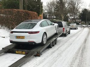 ENDE- the transport by trailer experts, has just transported a car by trailer from Bristol, Avon to Kent.