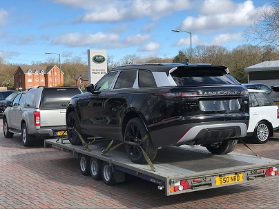 ENDE- the transport by trailer experts, has just transported a car by trailer from Leominster, Hereford to Henley, Surrey.