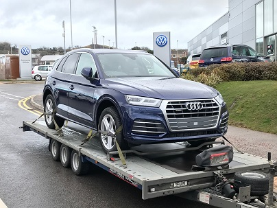 ENDE- the transport by trailer experts, has just transported a car by trailer from Llandudno, North Wales to Tetbury, Gloucestershire.