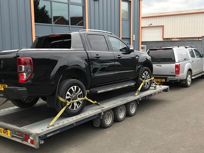 ENDE- the transport by trailer experts, has just transported a car by trailer from Lydney, Glos to Grantham, Lincs .